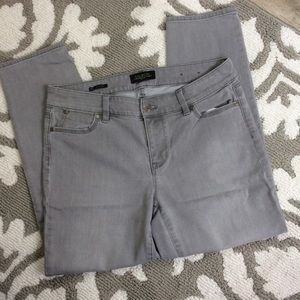 Talbots light gray denim pants